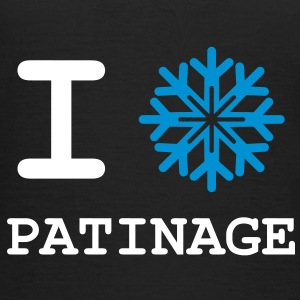 I Love Patinage Tee shirts - T-shirt Femme