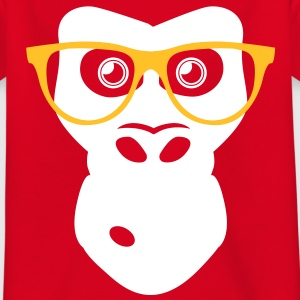 Nerd Ape with glasses Shirts - Teenage T-shirt