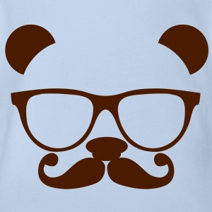 Nerd Panda with Glasses T-Shirts - Baby Bio-Kurzarm-Body