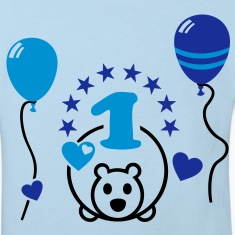 At last one! First Birthday Party Balloon Bear Shirts
