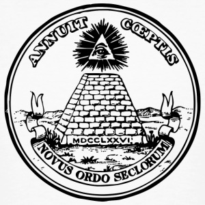 All seeing eye, pyramid, dollar, freemason, god T-shirts - Organic mænd