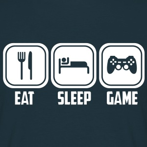 eat sleep game T-Shirts - Männer T-Shirt