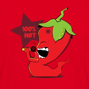 Rood Red Chili Pepper T-shirts - Mannen T-shirt