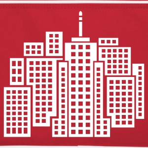 Red/white City Bags  - Retro Bag