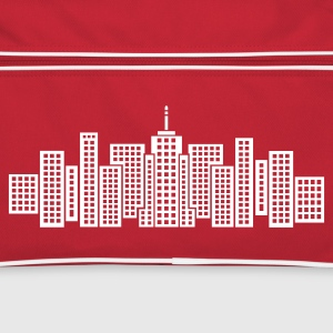 Red/white City Skyline Manhattan Bags  - Retro Bag