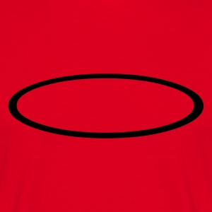Red Ellipse Outline Men's Tees - Men's T-Shirt