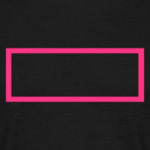 Black Rectangle Outline Men's Tees - Men's T-Shirt