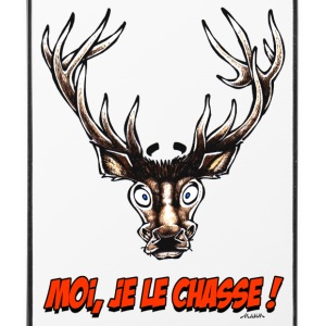 "Coque pour iPhone 4/4S CERF ""Moi, Je Le Chasse !"" - Coque rigide iPhone 4/4s"