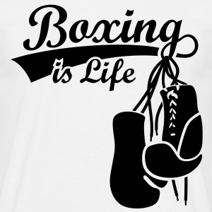 Boxing is Life. Boxing Gloves boxer  T-Shirts - Men's T-Shirt