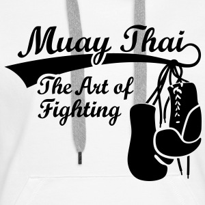 Muay Thai - The Art of Fighting Bluzy - Bluza damska Premium z kapturem