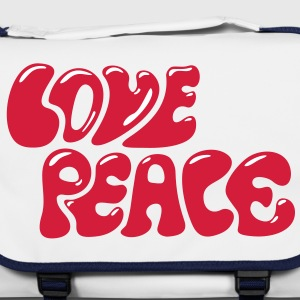 Love Peace seventies 70s retro style flower power Bolsas - Bolso de bandolera