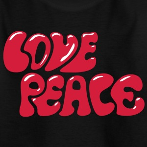 Love Peace seventies 70s retro style flower power Shirts - Teenager T-shirt