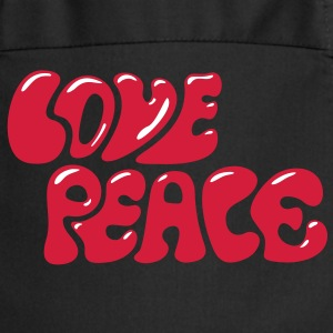 Love Peace seventies 70s retro style flower power Kookschorten - Keukenschort