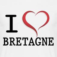 Motif ~ Tee shirt i love bretagne classique Homme