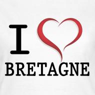 Motif ~ Tee shirt i love bretagne classique Femme