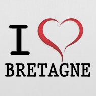 Motif ~ Sac en tissu i love bretagne