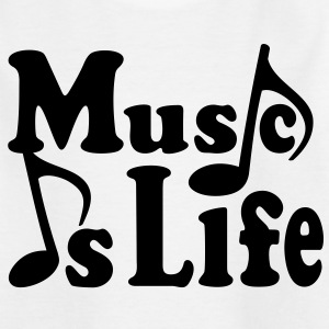 Music is Life. Musiknoten Noten Musik T-Shirts - Kinder T-Shirt