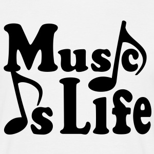 Music is Life.  Noter. Musik musiker. Singer T-shirts - T-shirt herr
