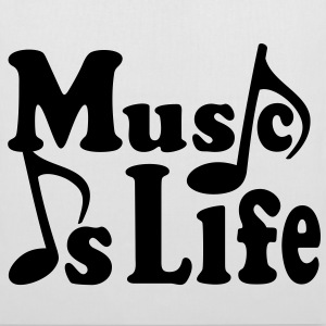 Music is Life. Music notes musician Bags  - Tote Bag