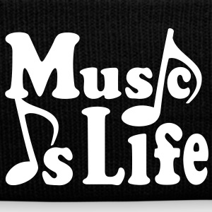 Music is Life. Music notes musicianr Caps & Hats - Winter Hat
