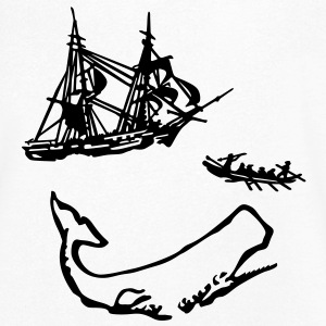 Moby Dick illustration Tee shirts - T-shirt Homme col V