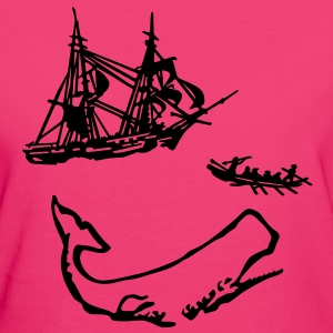 Moby Dick illustration Tee shirts - T-shirt Bio Femme
