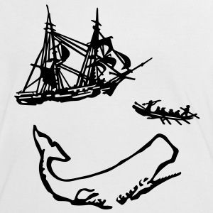 Moby Dick illustration Tee shirts - T-shirt contraste Femme
