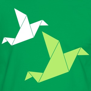 origami bird T-Shirts - Men's Ringer Shirt