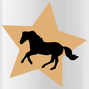 Galloping Horse on Gold Star Flessen & bekers - Drinkfles