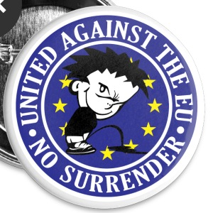 Anti EU - No Surrender Buttons - Buttons small 25 mm