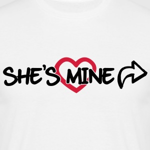 She's mine T-shirts - Herre-T-shirt