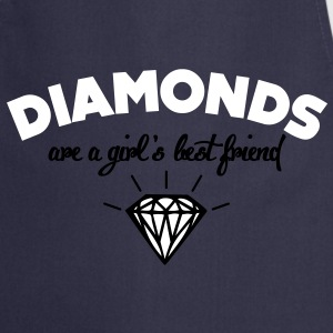 diamonds are a girl's best friend  Aprons - Cooking Apron