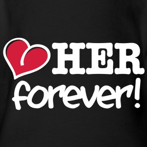 love her forever T-Shirts - Baby Bio-Kurzarm-Body