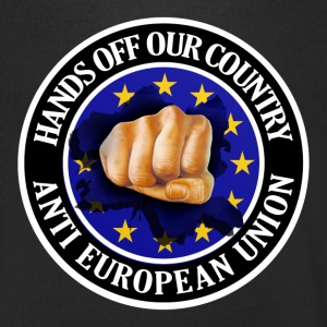 Anti EU - Fist T-Shirts - Men's V-Neck T-Shirt