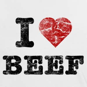 I Love Beef vintage dark T-Shirts - Women's Ringer T-Shirt