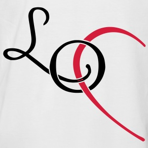 LO - LOVE couple shirt T-Shirts - Men's Baseball T-Shirt