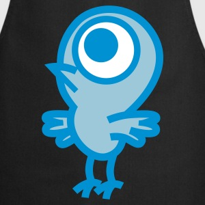 Black Strange Little Birdie Vector Graphic by Cheerful Madness!! online shop  Aprons - Cooking Apron