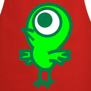 Red Strange Little Birdie Vector Graphic by Cheerful Madness!! online shop  Aprons - Cooking Apron