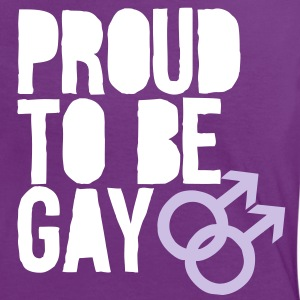 Proud to be gay T-shirts - Kontrast-T-shirt dam