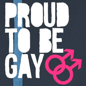 Proud to be gay Hoodies & Sweatshirts - Men's Premium Hooded Jacket