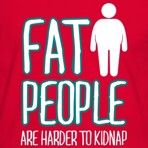 fat people are harder to kidnap T-Shirts - Männer Kontrast-T-Shirt