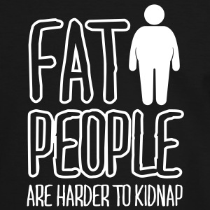 fat people are harder to kidnap T-shirts - Kontrast-T-shirt herr