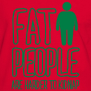 fat people are harder to kidnap T-Shirts - Men's Ringer Shirt