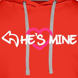 He's mine Hoodies & Sweatshirts - Men's Premium Hoodie