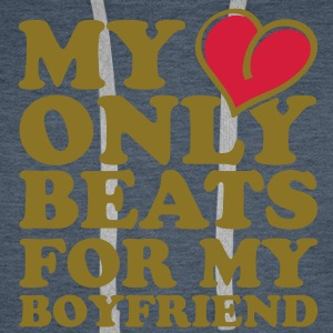 my heart beats only for my boyfriend Felpe - Felpa con cappuccio premium da uomo