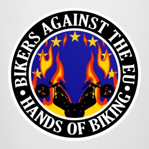 Anti EU Hands Off Biking EU 002 Bottles & Mugs - Beer Mug