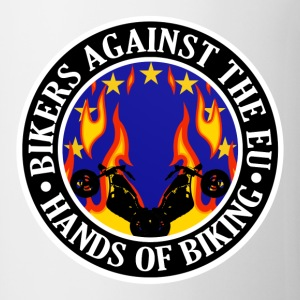 Anti EU Hands Off Biking EU 002 Bottles & Mugs - Mug