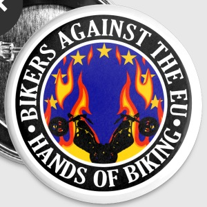 Anti EU Hands Off Biking EU 002 Buttons - Buttons large 56 mm