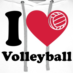 I love Volleyball J'aime volley-ball   Sweat-shirts - Sweat-shirt à capuche Premium pour hommes