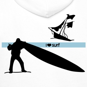 I love surf Hoodies & Sweatshirts - Men's Premium Hoodie